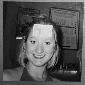 The 21st birthday. Why yes, that IS a driver's license stuck to my forehead. Because, 21.