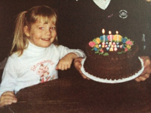 Back when birthdays were pure magic! Cake, ice cream, and presents! The stuff childhood dreams are made of.