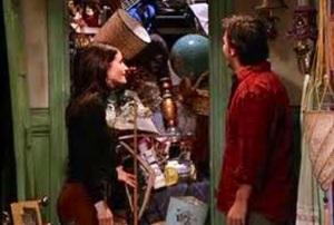 Monica's junky closet.