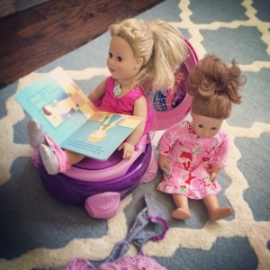 Our fake American Girl dolls have this potty thing mastered. Boom!